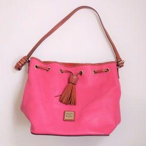 Dooney Kendall Pink Drawstring Bucket Bag Purse